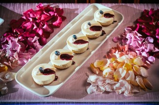 Italian-Dessert-Table-with-Ombre-Flower-Petals
