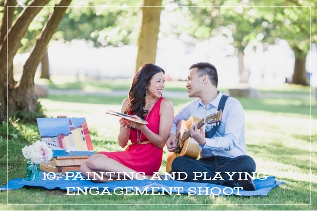 PAINTING AND PLAYING ENGAGEMENT SHOOT