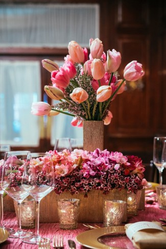 Wedding-Floral-Centerpiece---Gold,-Pinks