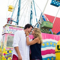 fair and beach engagement shoot