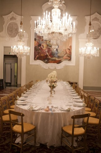 intimate wedding reception at the four season hotel in florence