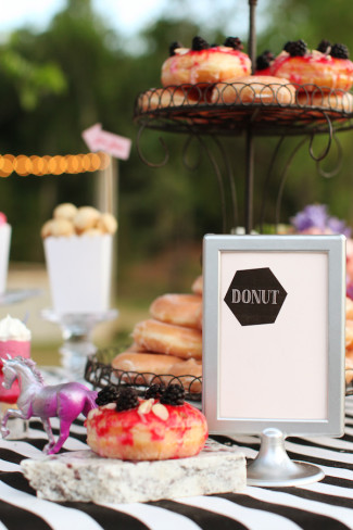 donuts on dessert table