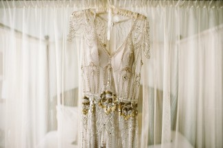 Jenny Peckham Eden Bridal Dress on silk hanger