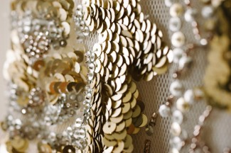 Gold sequins on Jenny Peckham Eden dress