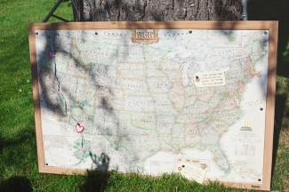 map of united states for wedding guest book