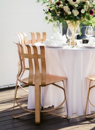 Modern wood chairs for table setting