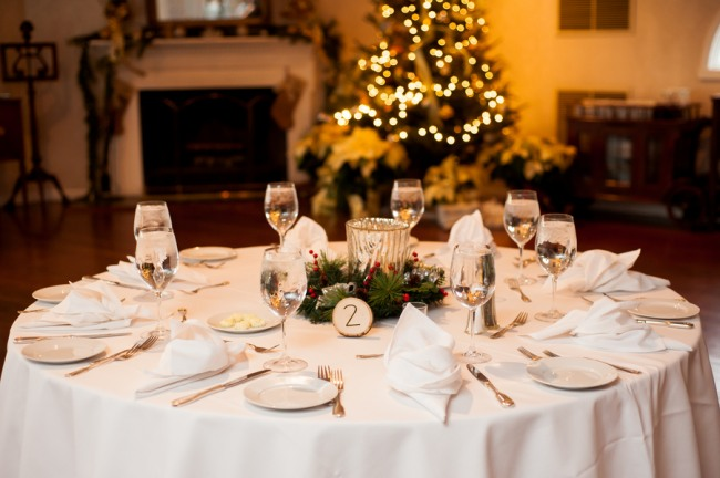 reception table setting for wedding at Antrim 1844 Hotel
