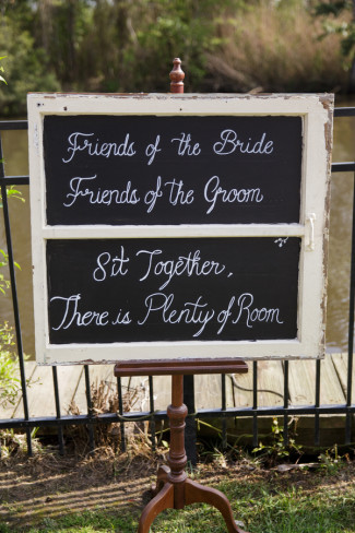 Wedding decor chalk board sign for guests seating