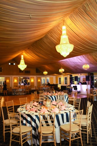Nautical themed wedding reception at the Bridgeview Yacht Club Wedding