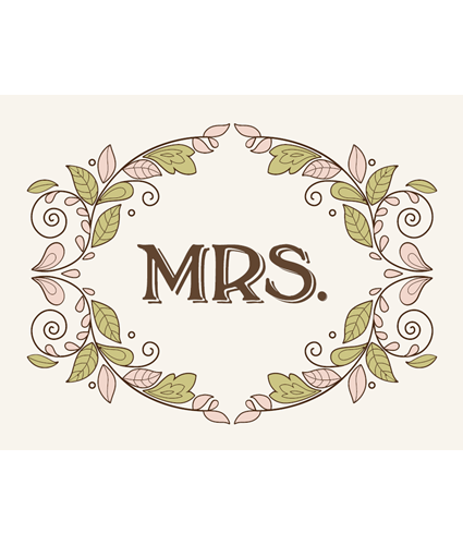 Bontanical bliss mrs chair sign
