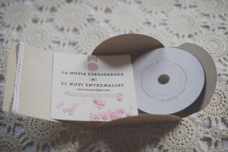 Wedding invitations that included a DVD