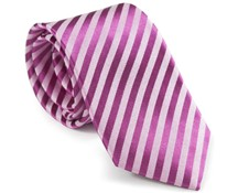 striped vibrant pink necktie