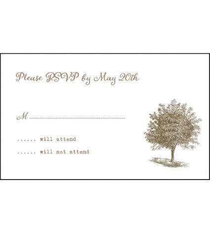 Tree of Life Wedding RSVP