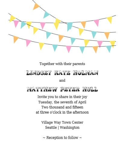 Invitation Sample With Rsvp. bunting banner invitation sample  rsvp Bunting Banner Invitation RSVP Free Printable