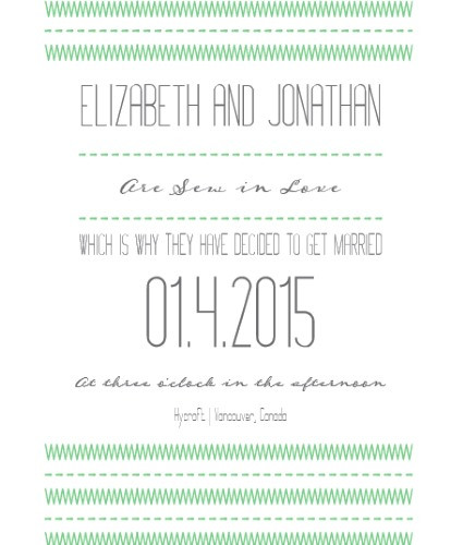 sewinlove green invite sample