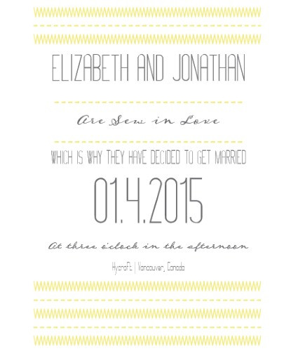 sewinlove yellow invite sample