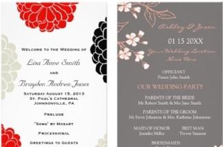wedding programs by zazzle