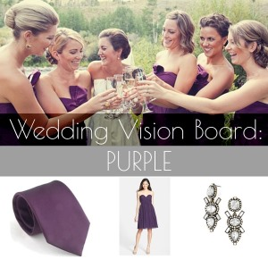 wedding vision board purple