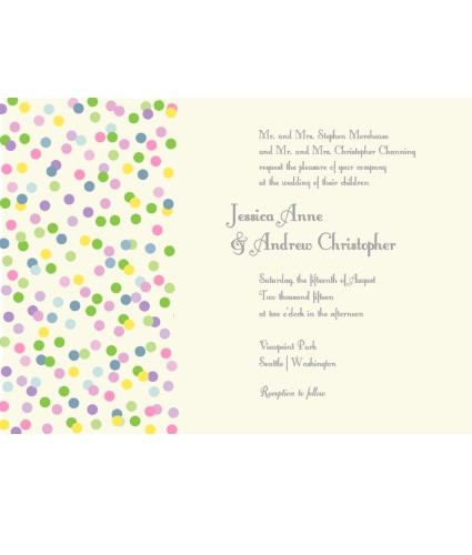 Spinkles Invite Multicolor