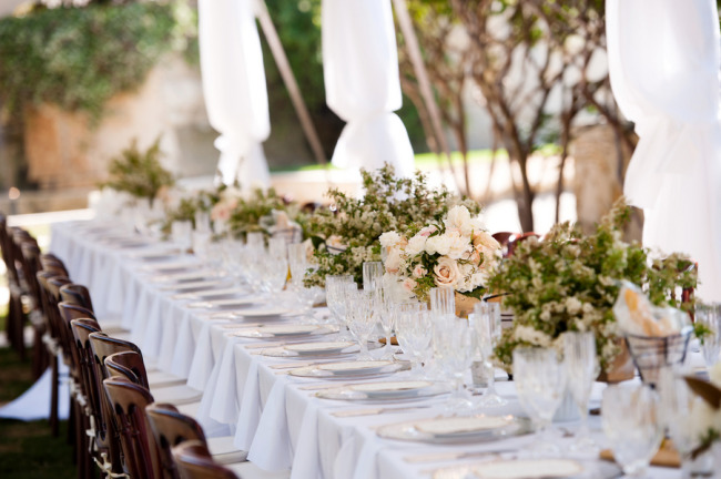 formal outdoor reception table