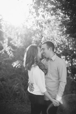 black and white photo of football fan engagement shoot couple