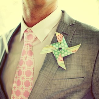 pinwheel boutonniere