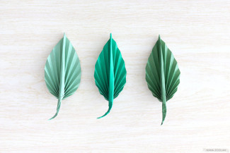 origami paper leaf boutonniere