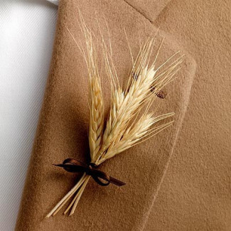 dried wheat boutonniere