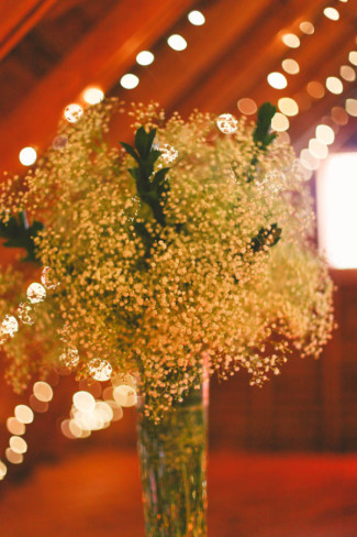 Baby's breath floral center piece for wedding reception