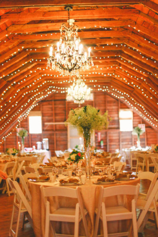Wedding reception at The Rustic Wedding Barn