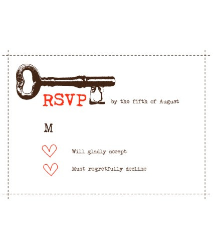 keys to your heart RSVP
