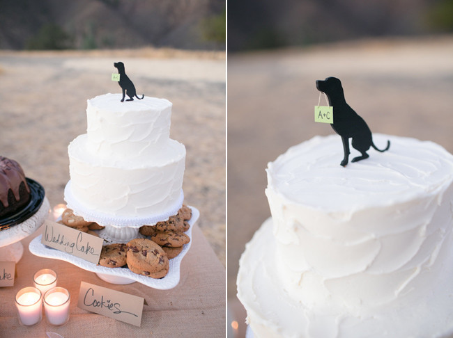 black labrador wedding cake topper