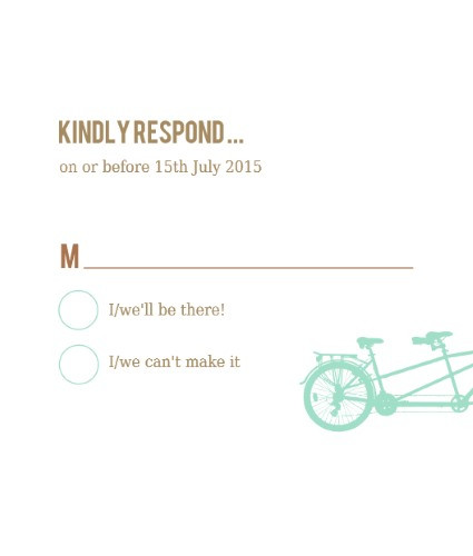 tandem bike rsvp sample