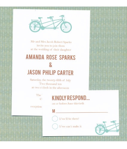 Tandem Bike Wedding Suite