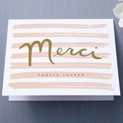 thank you card from minted