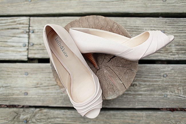 Kelly and Katie peep toe pumps for bridal shoes