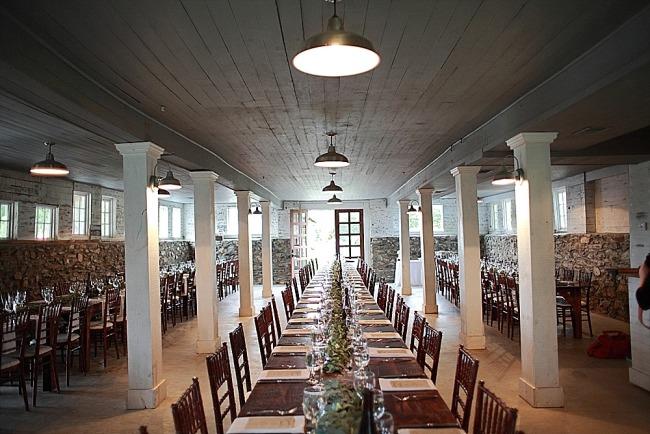 Wedding reception at The Barns at Hamilton Station