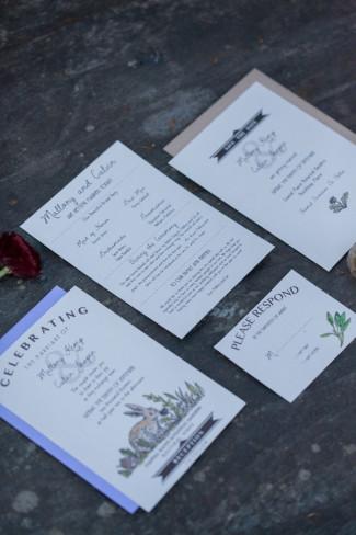 Little Ivy Paper Goods designed wedding stationary