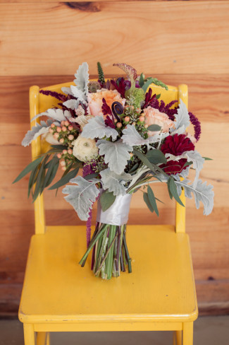 Bridal bouquet designed by Queen Anne's Flower Shop