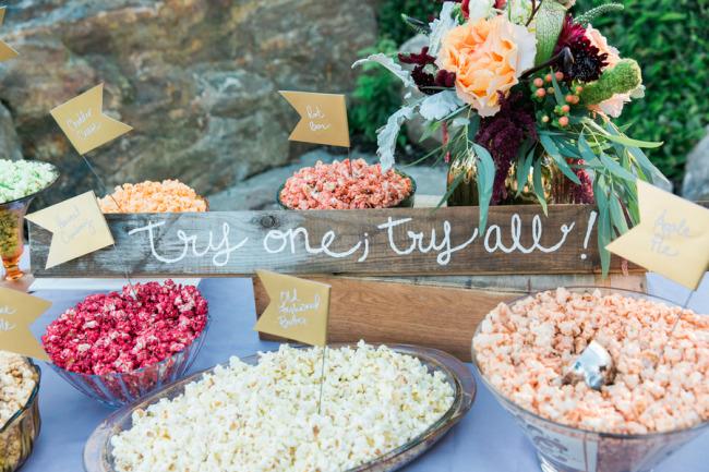 Wedding favor popcorn from Coastal Maine Popcorn Co.