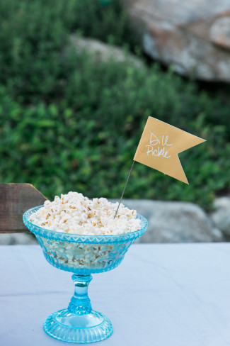 Dill pickle popcorn by Coastal Maine Popcorn Co.