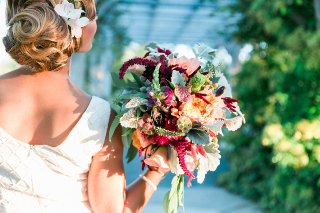 Bridal floral bouquet created by Queen Anne's Flower Shop