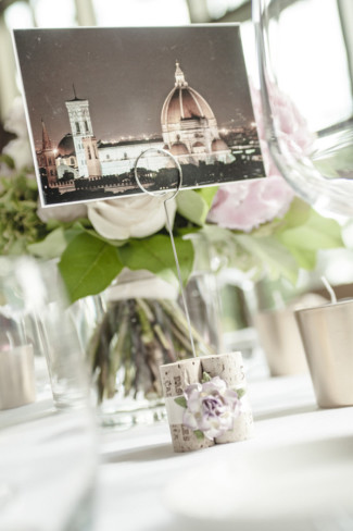 Post card of Florence Italy for wedding reception table number