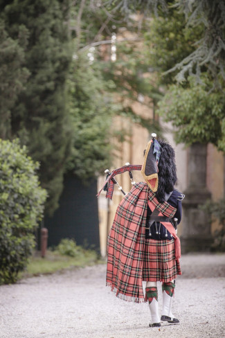 bagpiper for Scottish wedding ceremony in Florence Italy