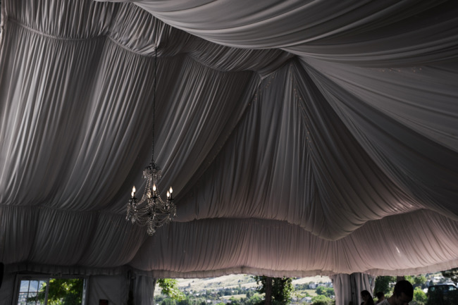 Tented reception at The Manor House in Colorado