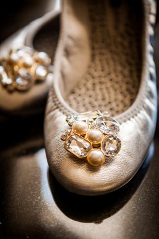 Rhinestone flats for wedding shoes