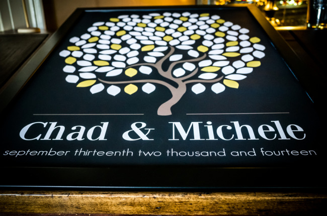 Guest book tree for bride and groom