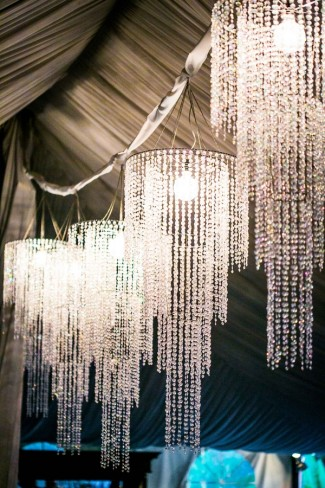 Outdoor Wedding At Green Gables Estate With Chandelier Accents