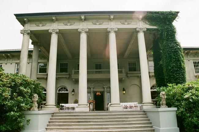 Hycroft Manor as an outdoor wedding venue