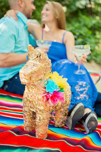 Engagement shoot with a cinqo de mayo theme